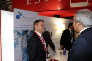 STATE SECRETARY OF TELECOM with J21Partners CEO at Mobile World Congress 2015